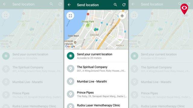 WhatsApp location share