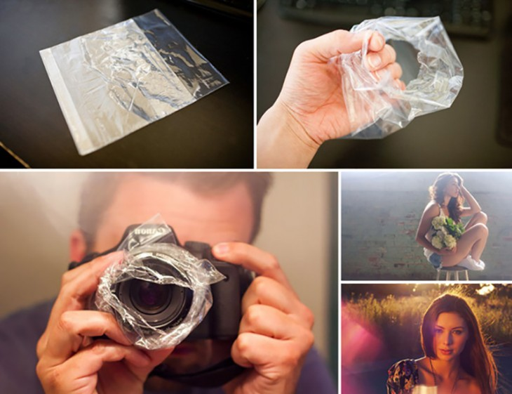 Create a hazy effect with a plastic sandwich bag