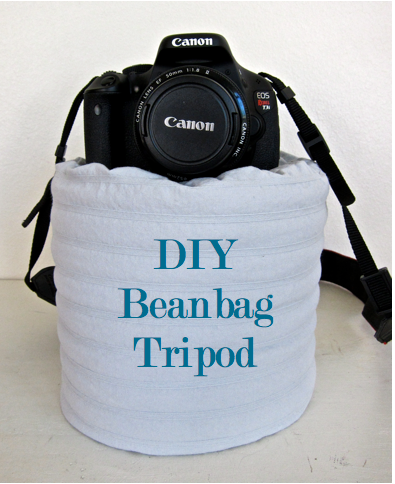 Improvise a tripod with a bag of beans