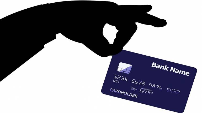 magnetic stripe of credit card