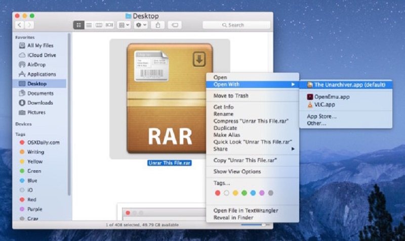 how can i open rar file on my pc