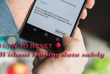 How to reset android without losing data safely