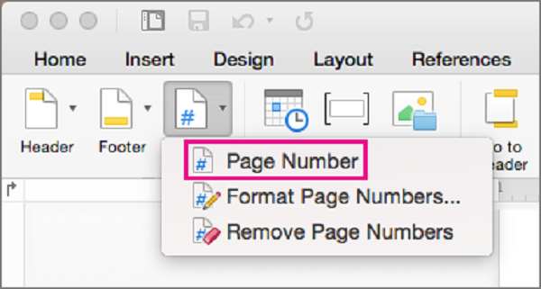 How to change page numbering in Word