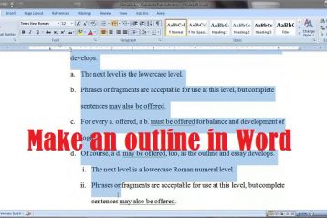 How to make an outline in Word